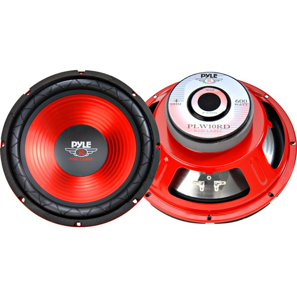 10 Red Label Series High Performance Subwoofer - 600W Max