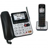 ATT ATTCL84100 DECT 6.0 CORDED/CORDLESS ANSWERING SYSTEM WITH DIAL-IN-BASE SPEAKERPHONE