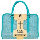 BLUE BIBLE COVER