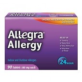 Allegra ® Allergy 24 horas de alivio 180mg - 90ct