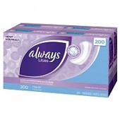 Always Pantiprotectores - 200 ct.